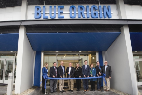 Blue Origin opens its new research and development building and headquarters in Kent, Washington